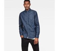 Core Button Down Denim Slim Shirt