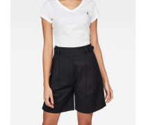 Bristum Pleated High waist Bermuda Shorts