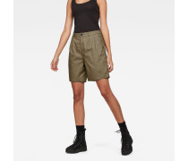 Bronson High Waist Loose Pleated Bermuda Shorts