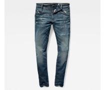 D-Staq 5-Pocket Zip Slim Jeans