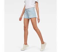 Arc Button Down Ripped Shorts