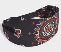 Bandana Hat with Snapback Closure in Red Cotton