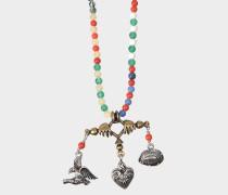 Halskette Santeria Beads and charms