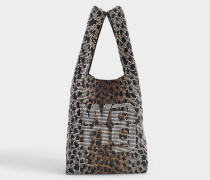 Mini Shopper Wangloc aus Leopard-Kristallen