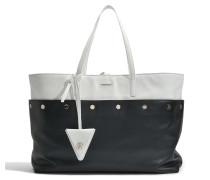 Le Sac Dans Le Sac Tasche aus schwarzem und weißem Kalbsleder
