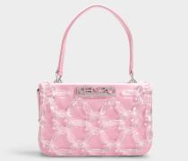 Kleine Handtasche mit Schulterriemen Runway aus rosa Polyester