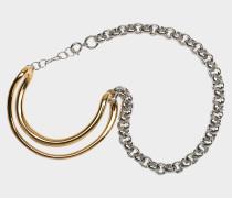 Initial Chain Armband aus gelbem Vermeil