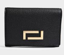 Pia Double Geldbörse aus schwarzem Leder