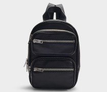 Attica Soft Medium Backpack in Black Lamb Nappa Leather