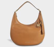 Lydia Large Hobo Tasche aus Acorn Small Pebble Leder