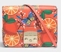 Metropolis small Crossbody Tasche aus mangogelbemAres Leder