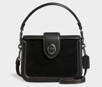 Page Crossbody Tasche aus schwarzem Kalbsleder