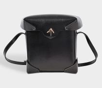 Mini Pristine Tasche aus schwarzem Vegetable Tan