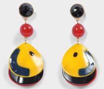 Plexi Ball Shape Ohrringe aus mehrfarbig Acetat
