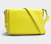 Small Burleigh Crossbody Tasche aus neongelbem Kalbsleder