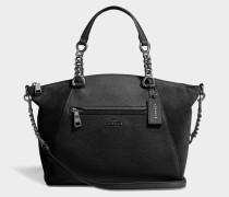 Prarie Satchel Tasche aus schwarzem Kalbsleder
