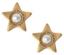 Ohrringe Flat Pearl Star Studs