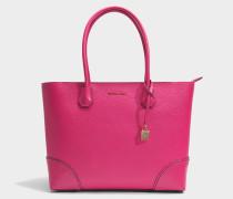 Mercer Gallery Large East-West Top Zip Tote Tasche aus Ultra rosanem Mercer Pebble Leder
