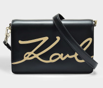 K/Signature Bucket Bag aus Leder Karl Lagerfeld
