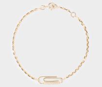 Armband Paper Clip aus 18 Karat Gold und Diamanten