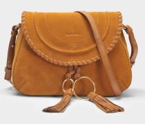 See by Chloé Polly Messenger Tasche aus karamelfarbenem Leder und Wildleder