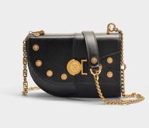 Kleine Handtasche Clash aus schwarzem Kalbsleder