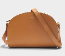 Handtasche Demi-Lune aus camelfarbenem Kalbsleder
