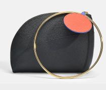 Eartha small Tasche aus schwarzem Kalbsleder