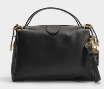Handtasche Laural Frame aus schwarzem Kalbsleder