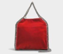 Mini Shopper Falabella aus rotem Velours