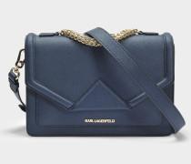 K/Klassik Shoulder Bag aus navyblauem Saffiano