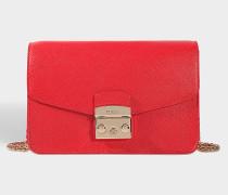 ropolis S Shoulder Bag aus Ruby Ares Leder