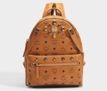 Dual Stark Small Backpack in Cognac sandfarben