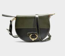 Handtasche Latch aus khakifarbenem Ziegenleder