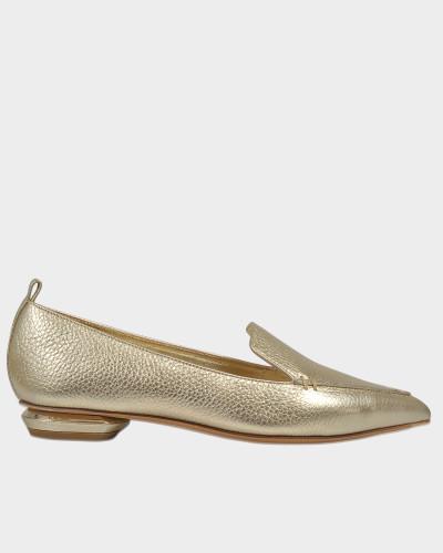 18Mm Beya Loafers in Platinum aus Kalbsleder
