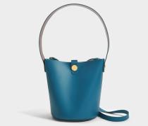 The Swing Tasche aus blauem Lagoon Kuhleder