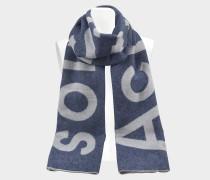 220X50 Toronto Logo Tuch aus blauer Wolle