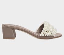 Tatiana Pearl Mule Schuhe aus Satin