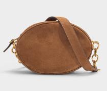 Tasche Gilly aus braunem Wildleder