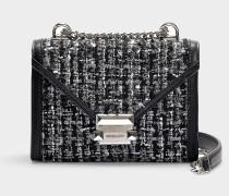 Whitney Small Shoulder Bag in Black Tweed