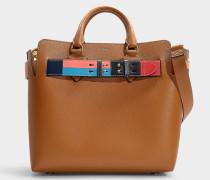 Handtasche The Belt Medium aus cognacfarbenem Kalbsleder