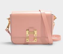 Kleine Handtasche The Quick aus rosa Kalbsleder