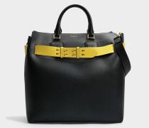Large Belt Tasche aus schwarzem Marais Leder