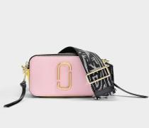 Handtasche Snapshot aus Kalbsleder mit Polyurethan Beschichtung Bunt