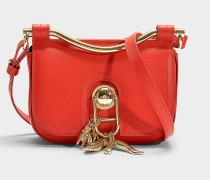 Handtasche mit Schulterriemen Misti aus rotem Kalbsleder