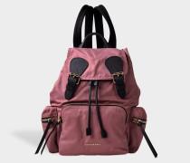 Medium Rucksack Backpack aus Mauve rosanem Nylon