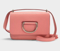 D-ring Mini Tasche aus rosafarbenem Ziegenleder