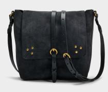 Tony Tasche aus schwarzem Ziegenleder