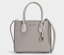 Handtasche Mercer Medium aus perlengrauem Kalbsleder