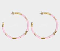 Positano Large Hoop Ohrringe in Babyrosanem aus 18K vergoldetem Messing
